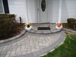 Walkway with step