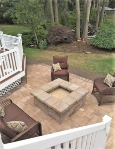 fire pit square furnished